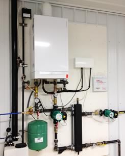 Boiler slab heating